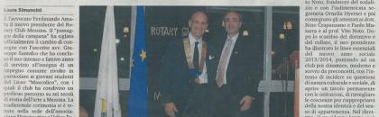 Il passaggio della campana al Rotary